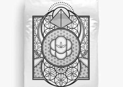 Ultra Sacred Geometry Queen Bed Doona Duvet Doona Covers