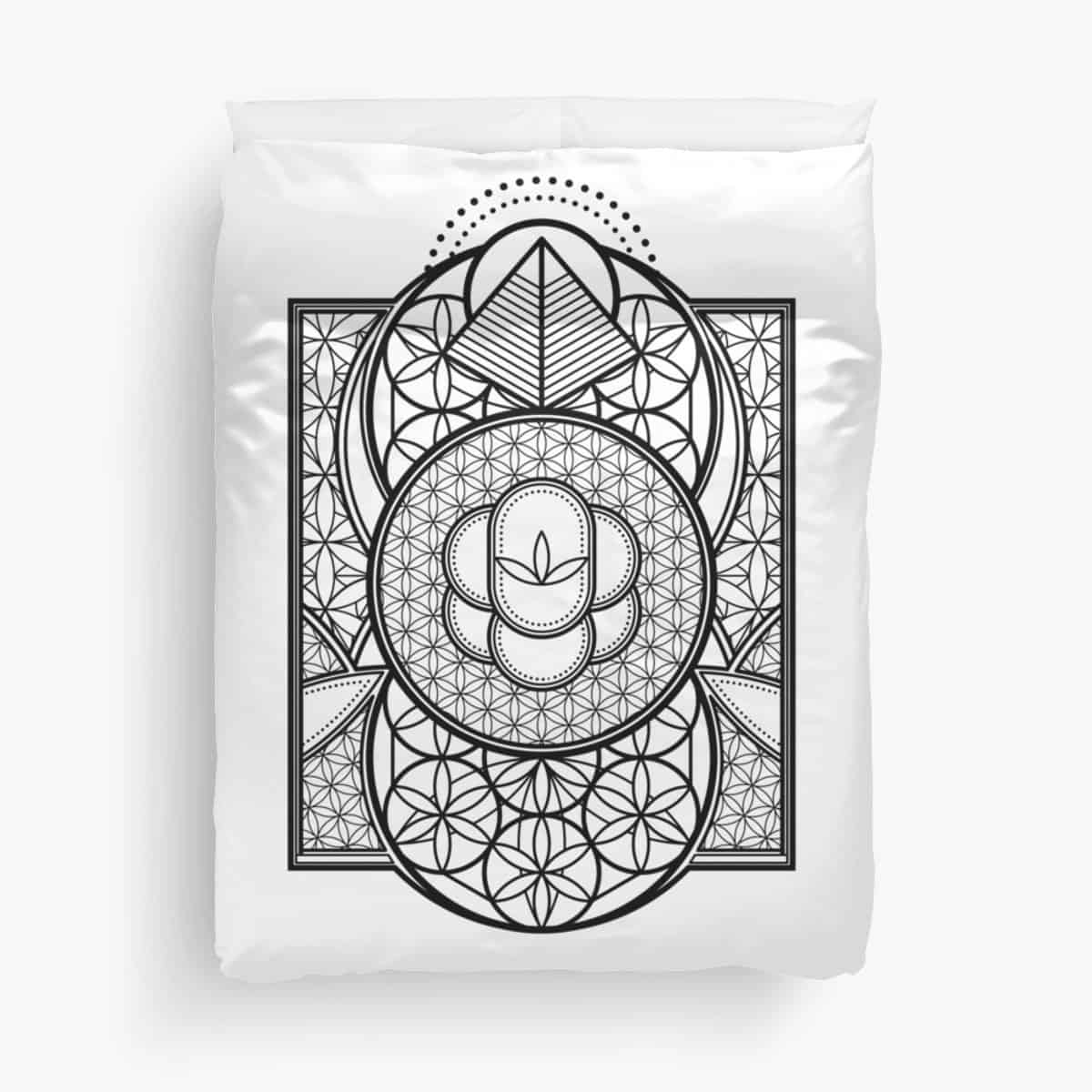 Ultra Sacred Geometry Queen Bed Duvet Covers