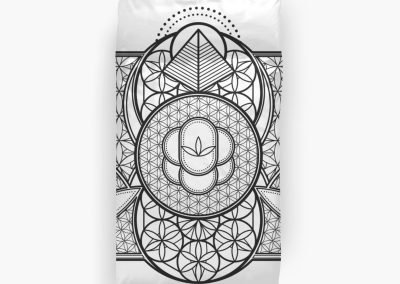 Ultra Sacred Geometry Twin Bed Duvet Doona Covers
