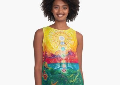 Sol Vibes Contrast Tanks Designed by Annelie Solis