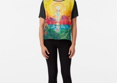 Sol Vibes Chiffon Top Designed by Annelie Solis