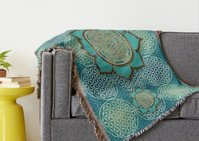 Flower of Life – Lotus Flower Throw Blanket