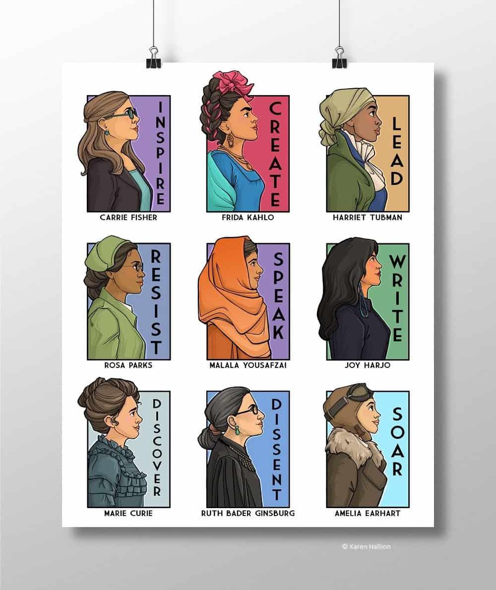 karenHallion SheSeriesCollage V4 Poster Print etsy