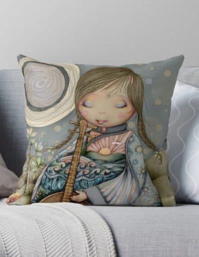 Moon Guitar cushion