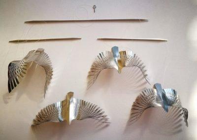 Bird Kinetic Mobile - 4 piece S/S birds in flight