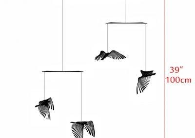 4 piece bird in flight Stainless steel mobile, kinetic metal art sculpture, Mobile Sculpture art, Bird mobile, Metal art, Kinetic sculpture.