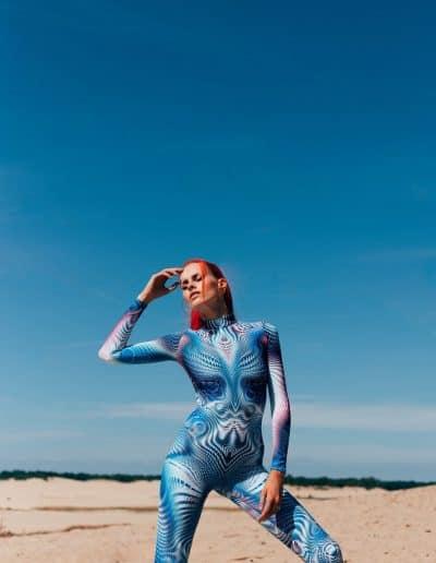 Festival Fashion Women Trippy Bodysuit
