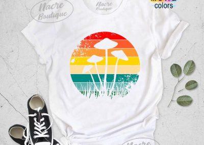 mushroom t-shirts color options