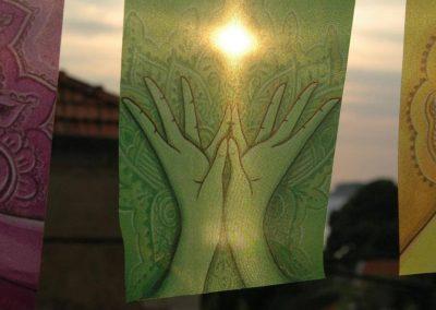 MUDRAS prayer flags Healing art Yoga poster Reiki decor Chakra banner