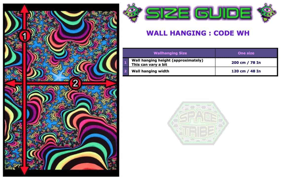 wall hanging size guide spacetribe etsy