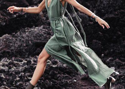 Organic Boho Dress • Long Maxi Bridesmaid Dress • Green Wedding Dress • Boho Dresses for Women • Plus Size Dress Adjustable